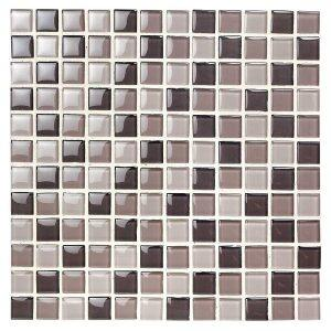 39202 Glasmosaik Crystal Mix Havana Blank 23x23cm ,tykkelse 8mm 1070/per kasse