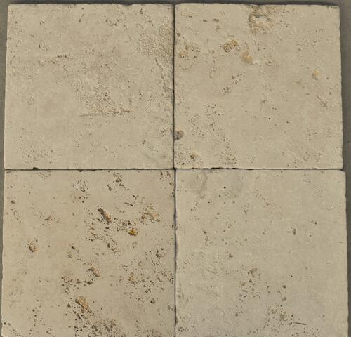 10007 Travertin Antik  beige 30½x30½cm- Antik Tromlet